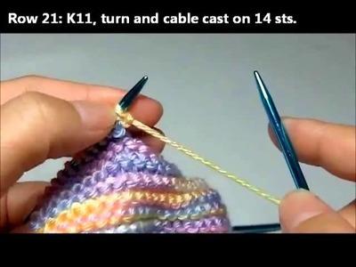 Knitting Basic Baby Booties - Part 2
