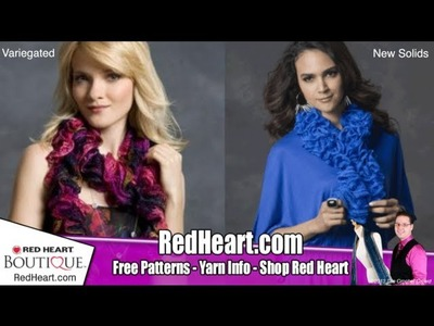 Learn to Knit: Sashay by Red Heart Scarves