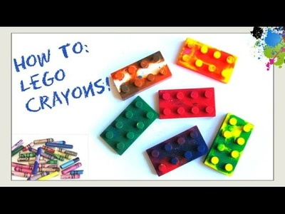 Make Your Own Lego Crayons - How to Recycle & Melt Broken Crayons - Make Crayons - Kids Crafts
