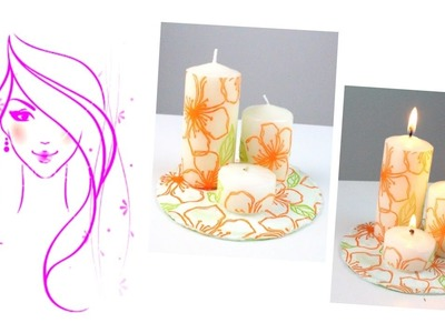 MORENA DIY: HOW TO MAKE DECORATE CANDLES WITH PAPER NAPKINS