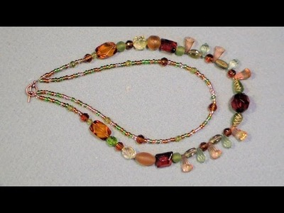Multi strand necklace beginner tutorial