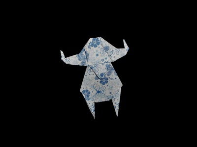 Origami Buffalo (Büffel) - Tutorial [HD]