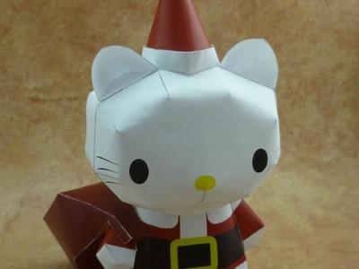 Santa Hello Kitty Papercraft