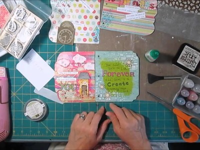 Scrapbooking Mixed Media Mini Album