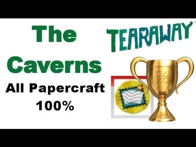 Tearaway PS VITA - 1080P - The Caverns - ALL Papercraft Locations!