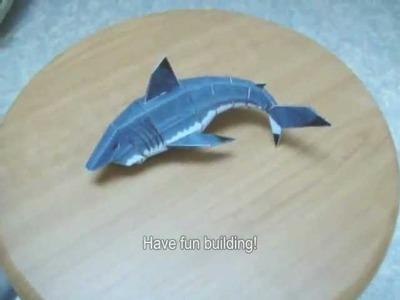 Tomb Raider 2 Great White shark papercraft model