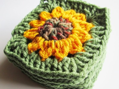 Vol 13 - Crochet Pattern - Granny Square - Sunflower