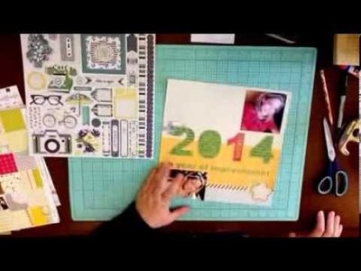 #004. 2014 Scrapbook Process Videos: One Little Word for 2014