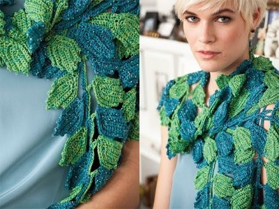 #17 Leaf Scarf, Vogue Knitting Crochet 2012