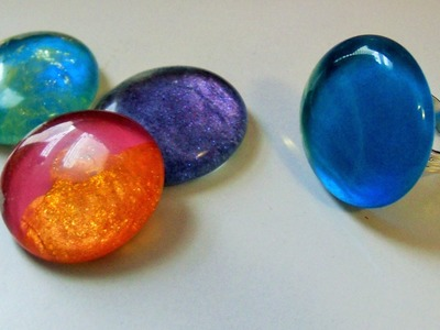 2014: DIY - Glass Gem Rings (&.or Brooches) EASY!