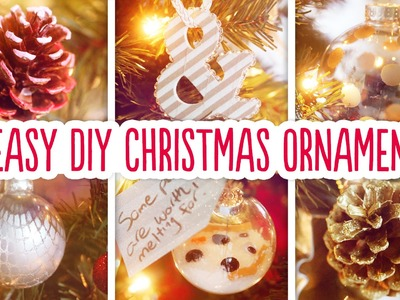 6 Easy DIY Christmas Ornaments