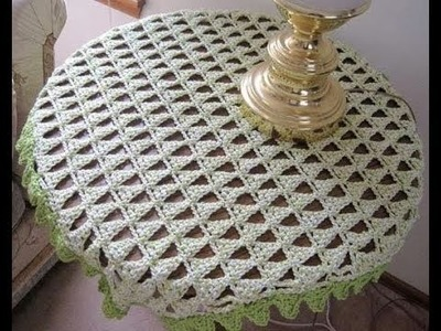 (9) Tableclothes Models Great Lace Designs Crochet Knitting New Trends