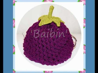 Baibin Blackberry Tea Cosy. Cozy (Double Knitting. DK)  Knitting Pattern!