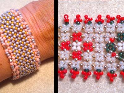 Beading4perfectionists : Stitch nr 12: Pondo stich bracelet beading tutorial