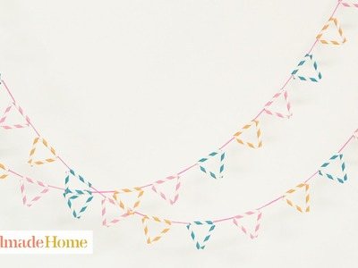 Colorful Paper Straw Garlands - Handmade Home - Martha Stewart