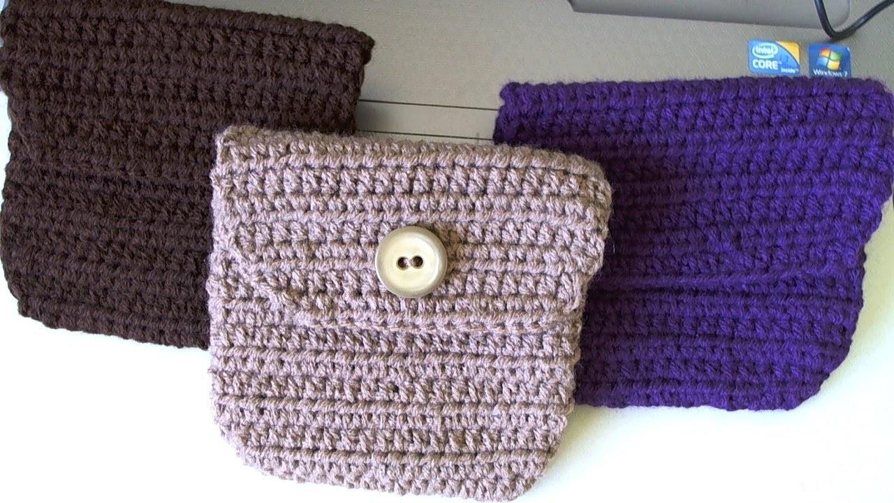 Crochet belt pouch.bag   video 1.  Bolsita para cinto en crochet  Video 1