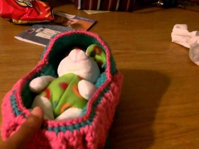 Crochet cradle and purse