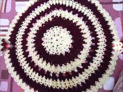 Crochet doily.crochet round table cloth