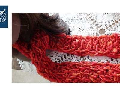 Crochet Scarf - Boutique Ribbons Yarn Left Hand - Crochet Geek