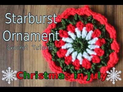 Crochet Starburst Christmas Ornaments