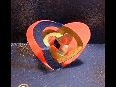 Dancing heart of KiriOrigami paper craft