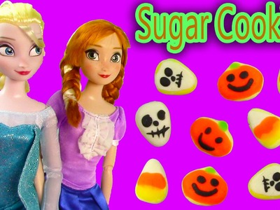 Disney Frozen Play-doh Halloween Sugar Cookies Queen Elsa Princess Anna Doll Food Craft