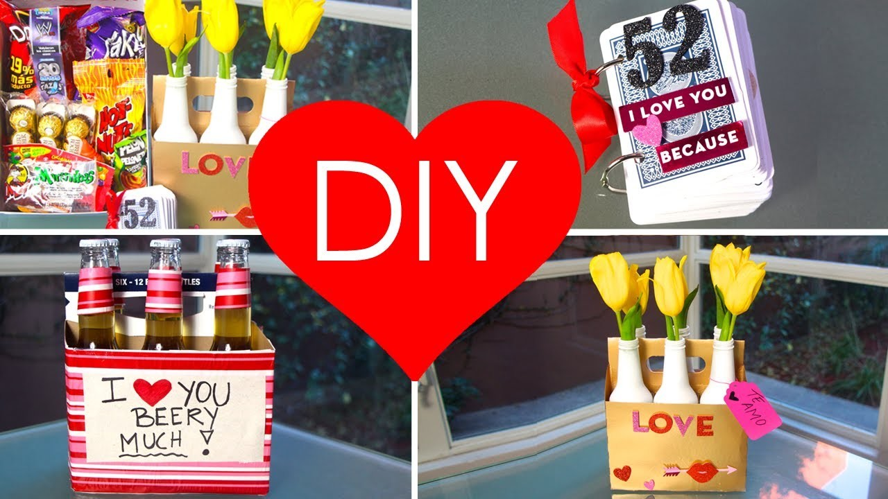 DIY- 4 VALENTINE'S GIFT IDEAS (PERFECT KIT) ♥