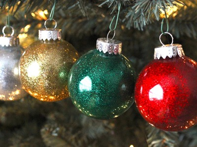 DIY Best Glitter Ornaments!!