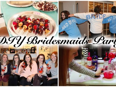 DIY BRIDESMAIDS PARTY! Wedding Series Video # 1