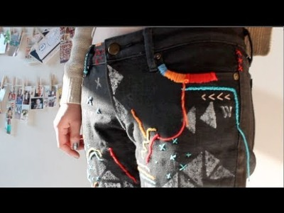 DIY Embroidered Jeans inspired by Isabel Marant SS12