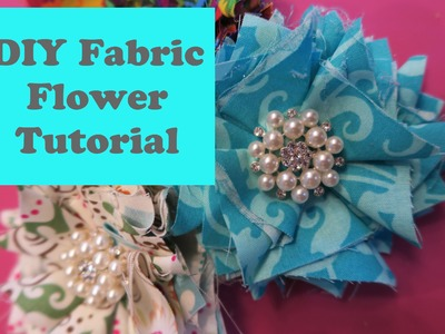 DIY Fabric Flower Tutorial Easy No Sew