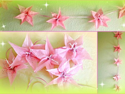 DIY Flower Decorations! Paper Lily Garland!