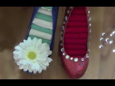 DIY Glitter Shoe Ring Holder -HowToByJordan