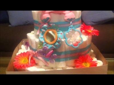 DIY HOMEMADE DIAPER CAKE!