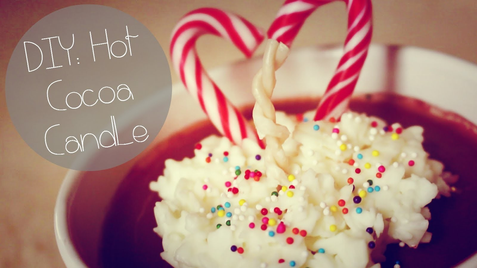 DIY: Hot Cocoa Candle