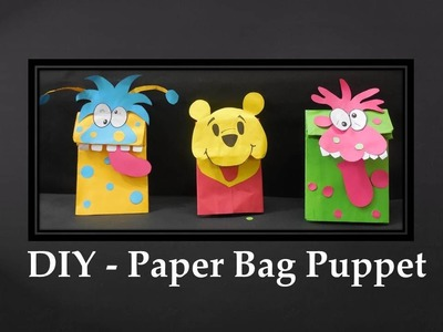 DIY - How to make Paper Bag Puppet