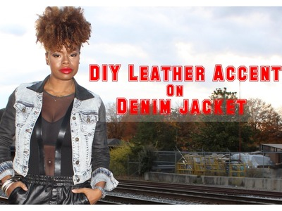 DIY Leather Accents on a Denim Jacket