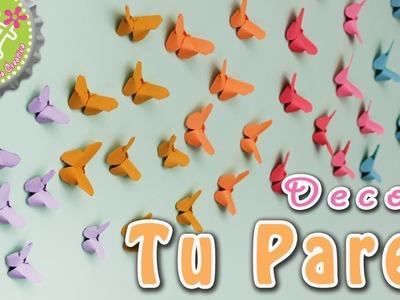 DIY: Mariposas Origami! para DECORAR tu pared!