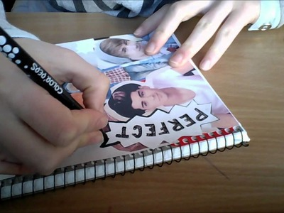 DIY One Direction notebook cover