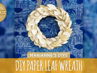 DIY Paper Leaf Wreath - HGTV Handmade