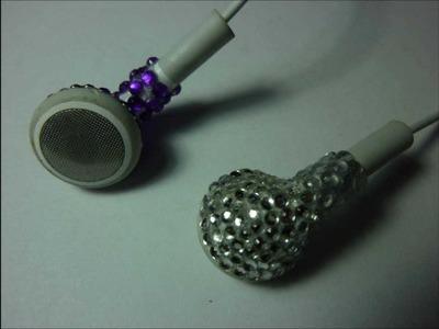 DIY Rhinestone Headphones