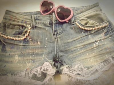 DIY♡ Shorts super Cool.  fácil y rapido!!!