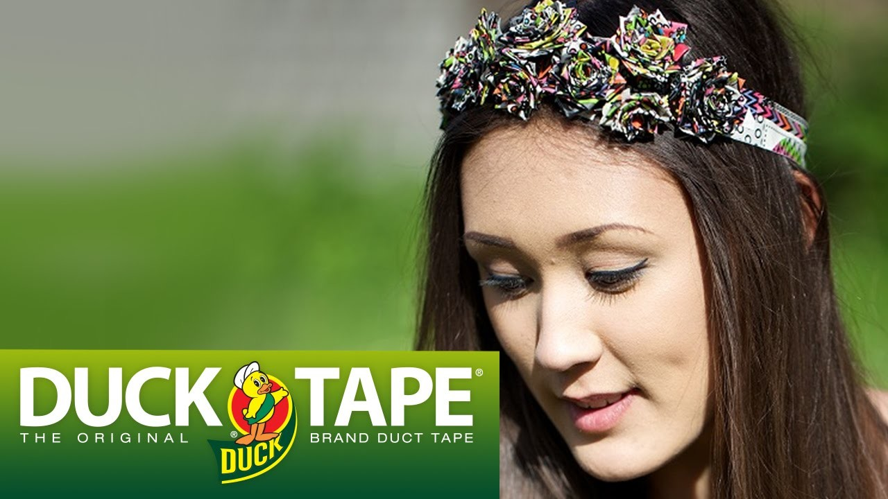Duck Tape Crafts: How to Make a Rose Headband with LaurDIY