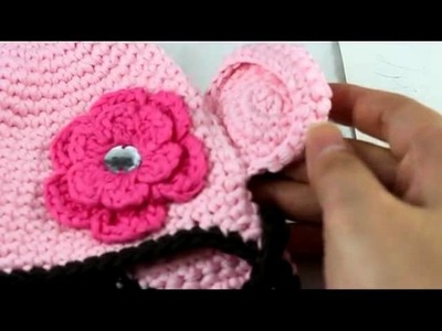 Flower Crochet Toddler Baby Hat Photography Prop HANDMADE Kid cap etm1w Pink