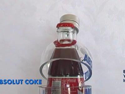 Glass Bottles Cutting Art - ABSOLUT COKE