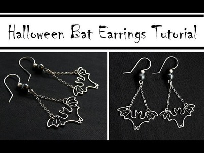 Halloween DIY Jewelry : Wire Wrapped Bat Earrings Tutorial