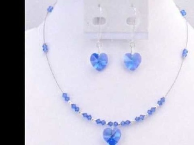 Handcrafted Swarovski Heart Crystals Jewelry by FashionJewelryForEveryone.com