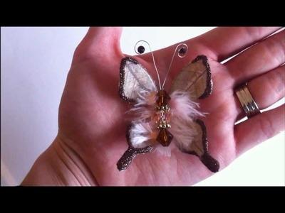 Handmade Skeleton Leaf Butterfly