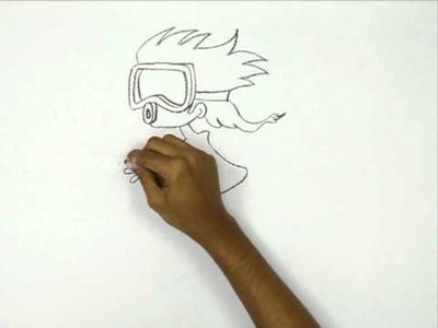 How to Draw a Scuba Girl