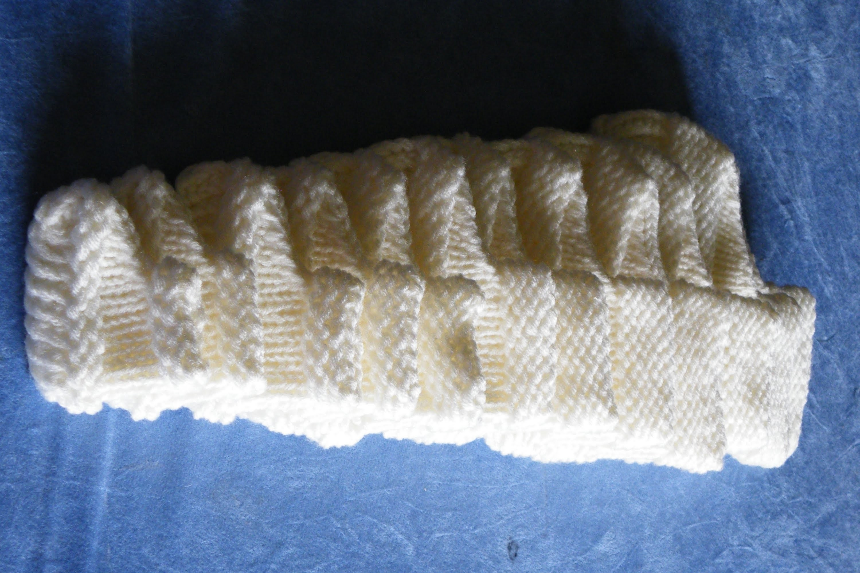 How to loom knit booties from newborn size to adult basic pattern (long looms)